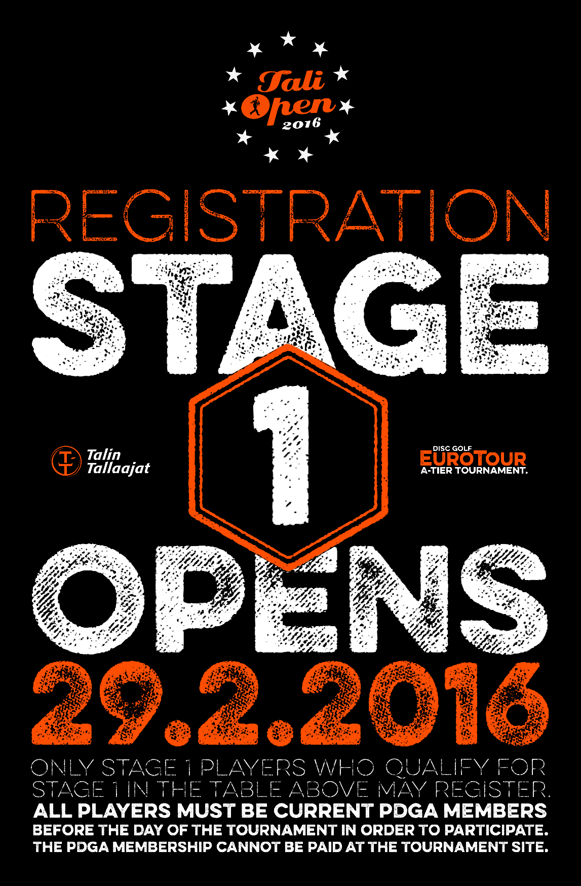 Tali Open 2016 Registration Stage 1